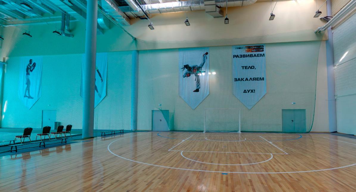 3D-панорама корта №2 (711.90 кв. м.) тренировочного центра